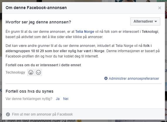 Målretting på Facebook